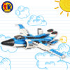 Hot Sale Plastic 3 in 1 Plane Robot Car Blocks Toy