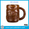 12 Oz Brown Ceramic Coffee Tiki Mug