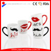 Color Handle Mug with Lover Designs