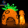 Unique Design Cute Dog and Doghouse Decoration Light