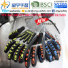 Cut-Resistance and Anti-Impact TPR Gloves, 13G Hppe Shell Cut-Level 5, Sandy Nitrile Palm Coated, Anti-Impact TPR on Back Mechanic Gloves