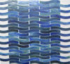 Best Popular Rainbow Wave Glass Mosaic Tile