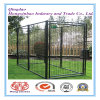 Black Color Powder or PVC Coating Outdoor Dog Cage