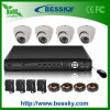 4CH. H264 Home Security Dome Camera Kits (BE-8104V4IB)