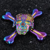 Factory Provide Zinc Alloy Four Bars Skull Spinner
