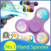 Factory Direct Hand Toy Fingertip/Finger Tri Gyroscope Fidget Spinner/Plastic/Metal/Bearing/Aluminum/LED Light/Ball/Gyro/Rainbow EDC Stress Hand Spinner
