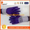 Ddsafety 2017 Zebra Purple Mixed White Nylon Liner with Purple Nitrile Coating