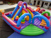 High Quality Inflatable Colorcul Bouncer Funcity with Obstacle, Hot Sale and Cheaper Funcity