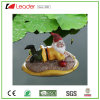Funny Garden Gnome Figurine on Mushroom for Pond Floating Decoration