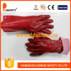 Ddsafety 2017 Red PVC Fully Dipped Gloves Interlock Liner Knit Wrist