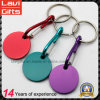 Customized Colorful Metal Trolley Coin Key Chain with Carabiner
