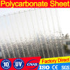 100% Virgin Ten Years Guarteen Polycarbonate 10mm Three Wall X-Type Sheet for Project