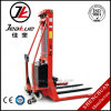 Factory Price 1500kg Adjustable Fork Powered Semi Electric Stacker Reclaimer