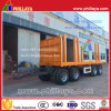 40ton Four Axle Flatbed Draw Bar Trailer with Pipe Pillars