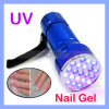 21 LED UV Black Light UV Gel Lamp Inks Scorpions Detecting Flashlights (TORCH-03)
