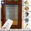 Tilt Opening Inward Opening Casement Window for Villas, Fully Customized Solid Oak Wood Aluminium Window for USA Clients