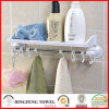 Bathroom Hardware Accessories Towel Shelf Rack with Suction Cup Hooks