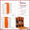 """Allure of Orange"" White Orange Contrast Three Bottles Faux Leather Wine Box (5999R2)"