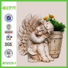 BV Inspection Polyresin Angel Flower Pot for Home Decoration
