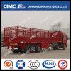 Cimc Huajun 3axle Cargo Semi Trailer with 3 Group Stake