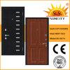 Russia Style Veneer Wood Security Steel Armor MDF Door (SC-A214)