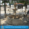 Garden Decoration Beige Marble Natural Stone Sculpture Water Fountain
