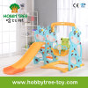 2017 Deer Cheap Style Baby Plastic Indoor Slide and Swing (HBS17004B)