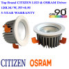 High Lumen 110-120llm/W Citizen LED Downlight with Osram Driver