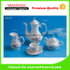 Hand Printing Golden Border Porcelain Tea Set