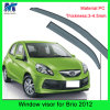 Auto Accesssories Window Roof Visors Sun Guard for Hodna Brio 2012