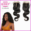 2017 Hot Selling Quercy Human Hair Peruvian Bundles Kincy Cure Lace with Closure (CL-015)