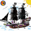 Plastic Pirate Series Black General Blocks Toy for Kids