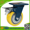 "Hand Trolley 6"" Polyurethane Wheel Heavy Duty Caster with Brake"