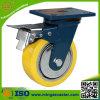 "Hand Trolley 6"" Polyurethane Wheel Heavy Duty Caster with Brake"
