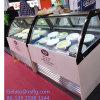 Low Noise Ice Cream Display Showcase