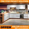 Oppein Modern White Flat Laminate Modular Wood Kitchen Cupboard (OP15-038)