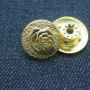Fancy Rose Metal Button for Women Jeans