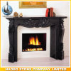 Antique Carved Black Galaxy Granite Fireplace Surround