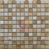 Luxury Golden Resin with Natural Marble Mosaic Tile (CS242)