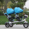 2016 New Design Twins Kids Tricycle, Push Stroller in Blue