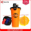 OEM 700ml Plastic Double Separated Shaker Bottle BPA Free Hydra Cup (KL-7015)