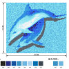 Dolphin Swimming Pool Patttern Picture Fish Glass Mosaic