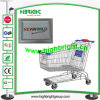 Aluminum Shopping Cart Front Display Board