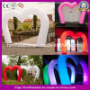 Large Inflatable Arch Balloon for Wedding Valentine Ceremony, Rainbow Love Heart Inflatable Archway