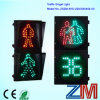 Dynamic LED Flashing Pedestrian Crossing Roadway Signal Light with Digital Countdown Timer
