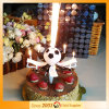 Music Football Candle Happy Birthday Fireworks
