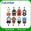 Silicone USB Flash Disk Hero Cartoon USB Pendrive