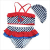 2017 Cute Bikini for Girls Swimming Suit and Cap