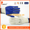 Ddsafety 2017 Natural Polyester String Knitted Blue PVC Work Glove
