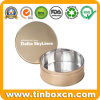 Empty Round Food Storage Tin Box Metal Nuts Tin Can